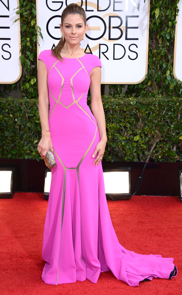 maria menounos slicked back hair, maria menounos golden globes, maria menounos