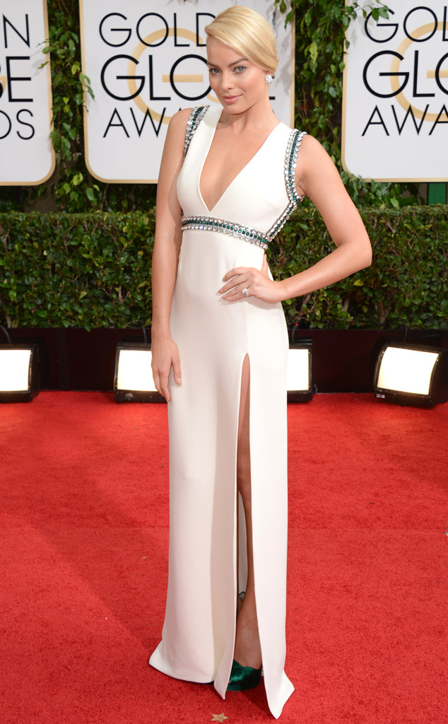 margot robbie, golden globes, margot robbie hair