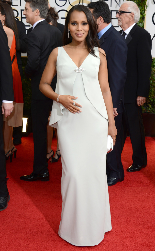 kerry washington golden globes, kerry washington hair, kerry washington