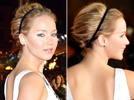 Jennifer lawrence, Jennifer lawrence updo, Jennifer lawrence hair, Jennifer lawrence mockingjay